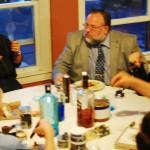 The brethren and candidates enjoying a few libations