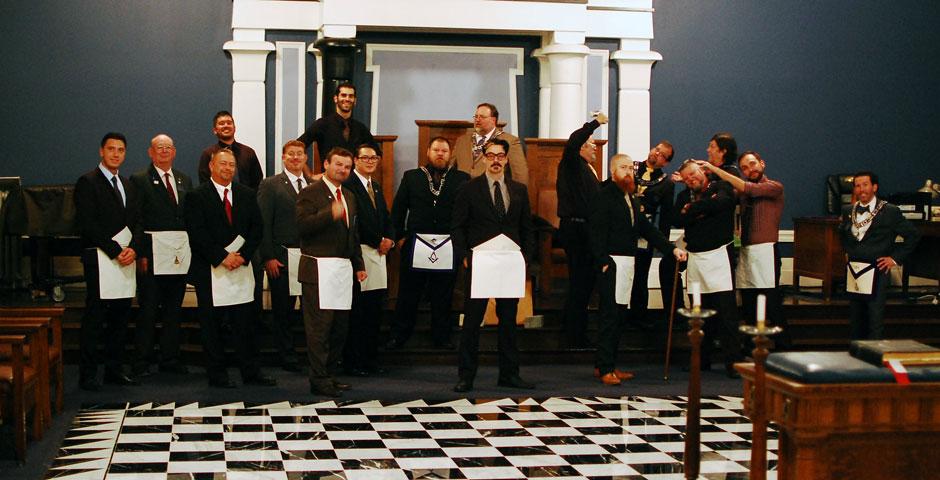 Joe Dufresne Entered Apprentice Degree Alternate Group Photo