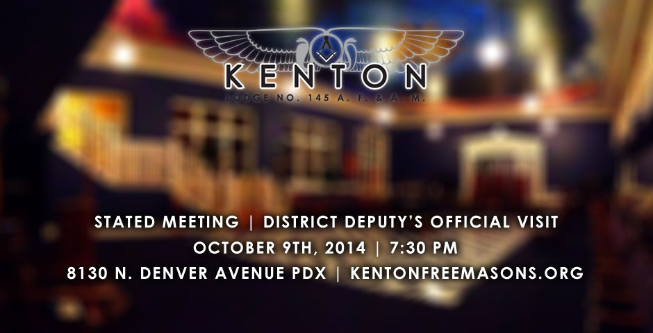 October Stated Meeting and District Deputy's Official Visit