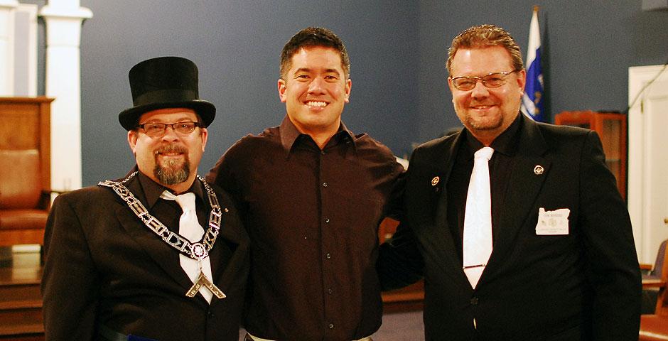 Jeff Bowman and Worshipful Masters