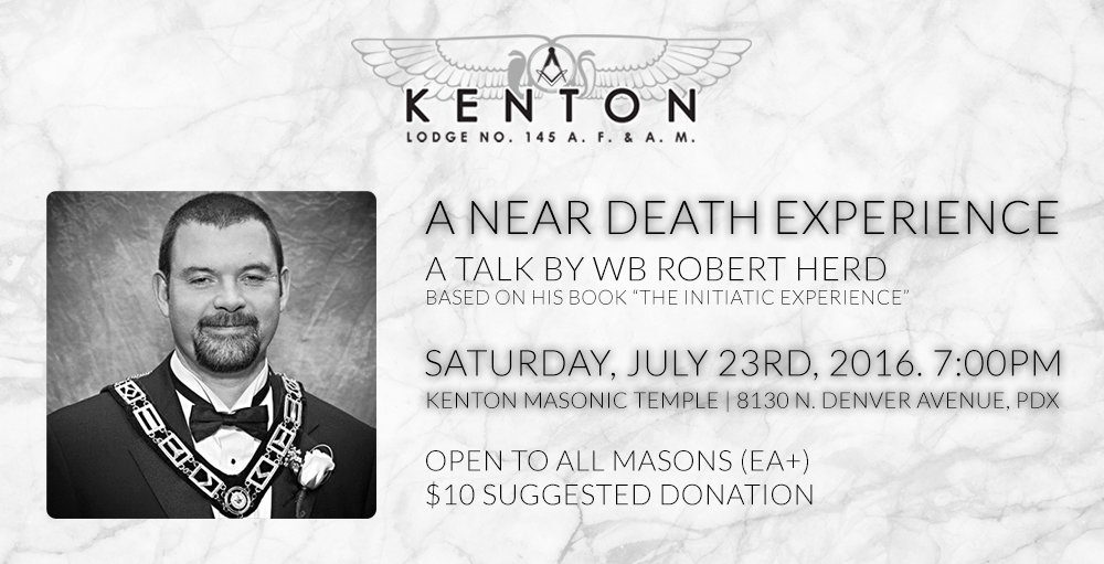 A near death experience - a talk by WB Robert Herd